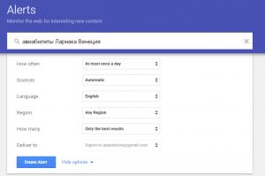 Онлайн инструменты для успешного бизнеса Google Alerts